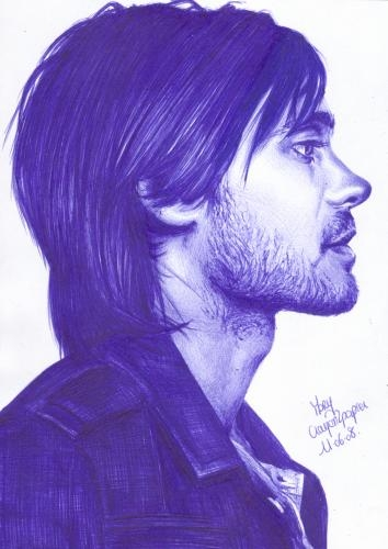 Jared Leto by crayon2papier